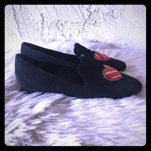 Size 8.5 MK Natasha Embellished Suede Loafer ❤️